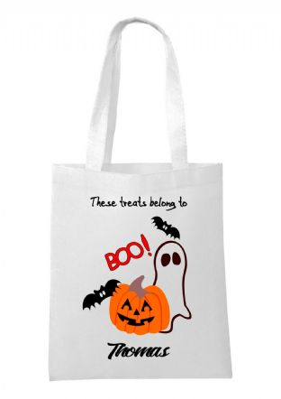 Halloween Ghost & Pumpkin Bag